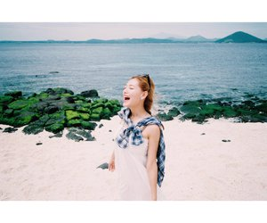 beach, beautiful girl, and cute image