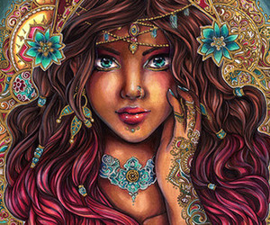 etsy, pretty girl drawing, and romantic print image