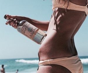 beach, bikini, and sand image