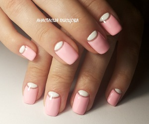 french, glitter, and manicure image