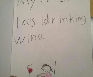 funny and wine image