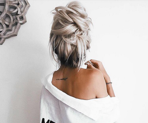 blonde, bun, and perfection image