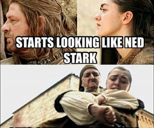 game of thrones, ned stark, and got image
