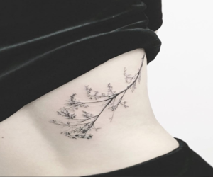 back tattoo, tattoo, and flower image