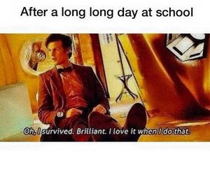 school, doctor who, and funny image