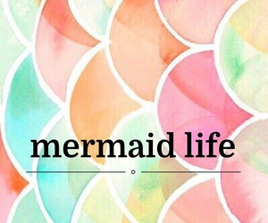 background, easel, and mermaid image