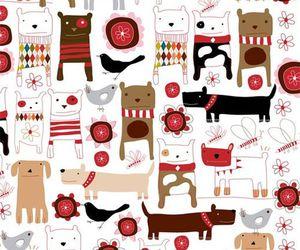 dog, background, and illustration image