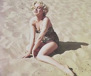 beach, Marilyn Monroe, and summer image