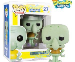 spongebob, squidward, and funko pop image