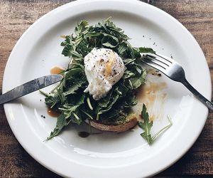 food, toast, and greens image