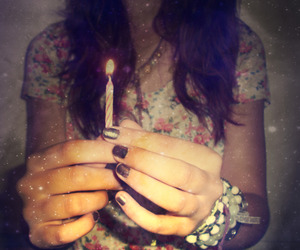 amazing, candle, and hair image