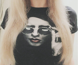 blonde hair, girl, and Marilyn Manson image
