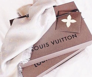 Louis Vuitton, luxury, and scarf image