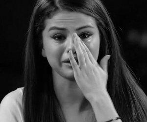 selena gomez, crying, and me image