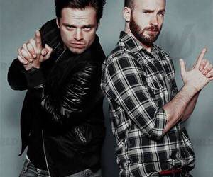 sebastian stan, chris evans, and captain america image