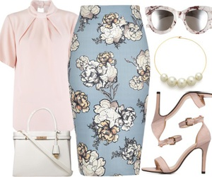 flower, office, and outfit image