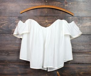 white, clothes, and crop top image