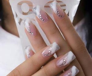 fashon, glitter, and nails image