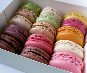 food, delicious, and macarons image