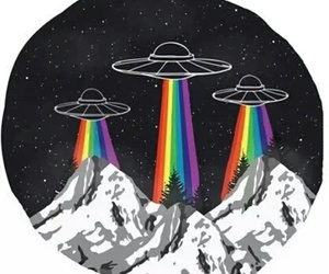 alien, arcobaleno, and disegno image