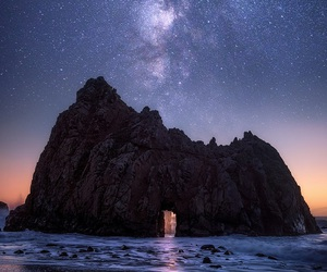 stars, night, and rock image