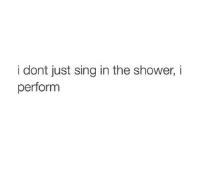 shower, funny, and quote image