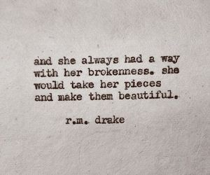 quotes, beautiful, and broken image