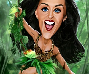 caricatura, katy, and perry image