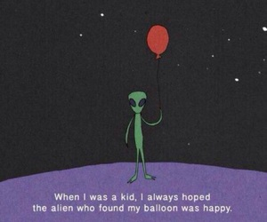 alien, balloons, and grunge image