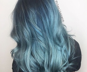 gorgeous, hair, and blue image