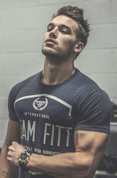 boy, man, and muscles image