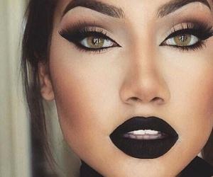makeup, black, and make up image