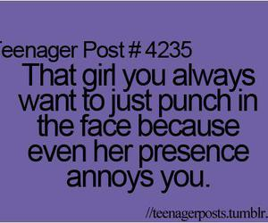 girl, annoying, and funny image