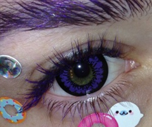 eyes, tumblr, and purple image