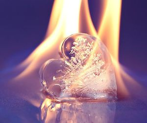 heart, fire, and ice image