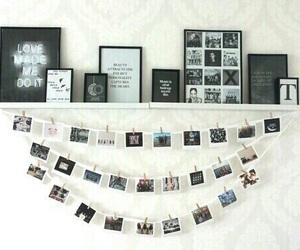 black, polaroid, and decor image