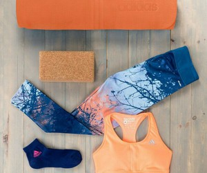 adidas, orange, and fitness image