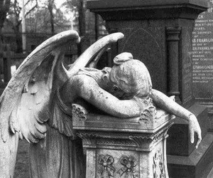 angel, sad, and statue image