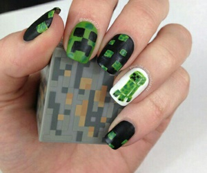 cool, nails, and minecraft image
