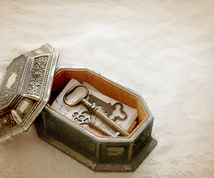 key, box, and vintage image