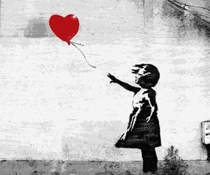 art, BANKSY, and balloon image