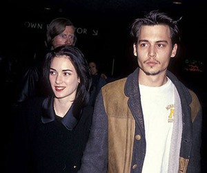 couple, johnny depp, and winona ryder image
