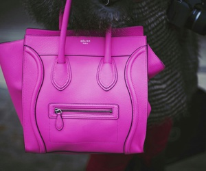 celine, hot pink, and purse image