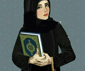 quran, Ramadan, and hijab girl image