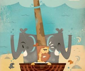 animal and noah's ark image