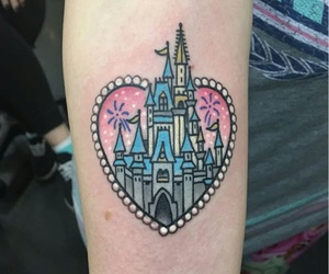 castle, heart, and tattoo image