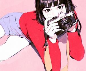 art, anime, and camera image