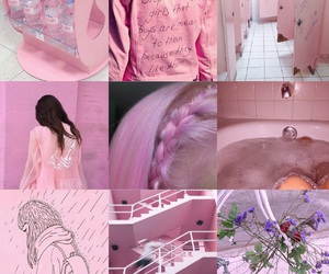 aesthetic, textures, and pink image