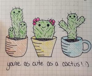 adorable, art, and cacti image