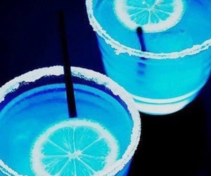 blue, drink, and lemon image